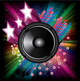 Background for Disco flyers with black Speaker Royalty Free Stock Photo