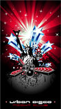 Background for Disco Flyers with USA Flag motive Royalty Free Stock Photography