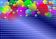 Background with disco lights Royalty Free Stock Images