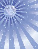 Background with disco mirror ball. Abstract blue background with disco mirror ball Stock Illustration