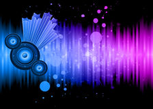 Background For Disco and Musical Event Flyer. Royalty Free Stock Image
