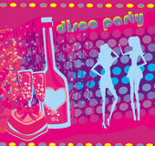 Background disco party Royalty Free Stock Photos