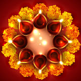 Background of diwali diya Stock Photos