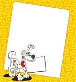 Background Dog. Dog design and box custom stock illustration