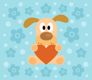 Background with dog cartoon Royalty Free Stock Images