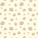 Background with dog paw print and bone stock illustration