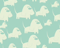 Background with dog. Vector seamless pattern Stock Photos