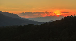Background of Doi Luang Chiang Dow at sunset Stock Images