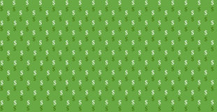 Background Dolar. Vector background with small dollars stock illustration