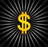 Background with dollar Stock Image
