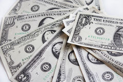 Background of dollar bank notes. Background of different American dollar bank notes Stock Images