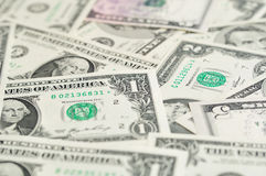 Background of dollar banknotes. Royalty Free Stock Image