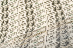 Background from dollar banknotes Stock Images