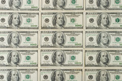 Background from dollar banknotes Royalty Free Stock Image