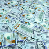 Background with dollar bills Stock Photos