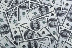 Background with dollar bills Royalty Free Stock Images