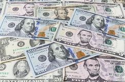 Background from dollar bills Royalty Free Stock Images