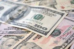 Background of dollar bills Royalty Free Stock Photos