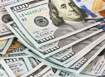 Background dollar bills, close up Royalty Free Stock Photos