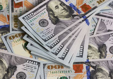 Background dollar bills close up Stock Photography