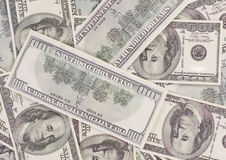 Background of dollar bills Stock Images