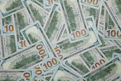 Background of 100 dollar bills stock images