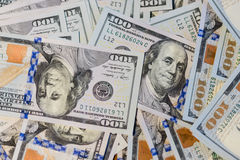 Background of 100 dollar bills Stock Photos