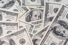 Background of 100 dollar bills Stock Photography