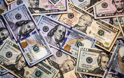 Background of dollar bills. Royalty Free Stock Images