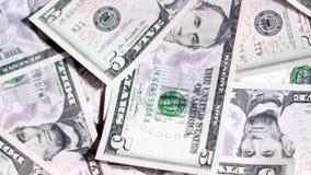 Background of dollar bills. UltraHD video of money background stock video footage