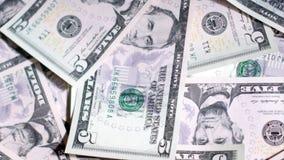 Background of dollar bills. UltraHD video of money background stock footage