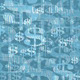Background with dollar symbol. And associated words Royalty Free Stock Images