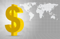 Background of Dollar Symbol with place for your te Stock Photography