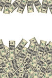 Background of dollars. With space for text Royalty Free Stock Images