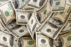 Background of dollars Stock Image