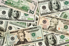 Background of dollars Stock Photos