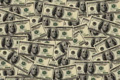 Background from dollars Royalty Free Stock Photography