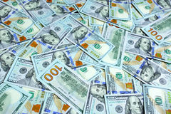 Background with dollars Stock Photography