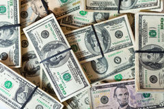 Background of  dollars banknotes Stock Images