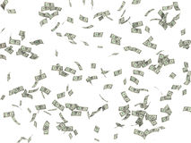 Background from dollars 3d render Royalty Free Stock Photography