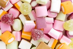 Background of dolly mixture sweets Royalty Free Stock Images