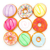 Background donut party Royalty Free Stock Photo