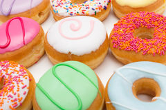Background donut party Royalty Free Stock Image