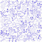 Background with doodle elements Stock Photography