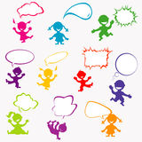 Background with doodle kids Royalty Free Stock Image