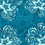 Background with doodle starfishes Stock Image