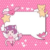 Background with doodle. Vector cute kawaii Royalty Free Stock Photo