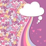 Background with doodle. Vector cute kawaii Stock Photos