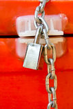 Background of door with lock Royalty Free Stock Images
