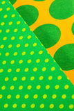 Background of dots. A background of paper with colourful dots stock photo
